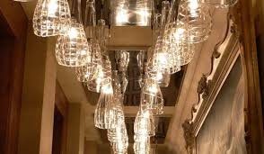 lighting ideas glass shade hanging lights on hallway with elegant