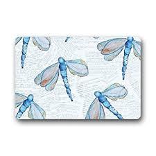 Dragonfly Indoor Outdoor Rug Amazon Com Fantastic Doormat Blue Dragonfly Art Pattern Door Mat