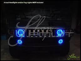 Automotive Led Lights Bulbs by Oracle 03 10 Hummer H2 Led Halo Rings Head Fog Lights Bulbs