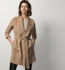 coat with belt coats women united states massimo dutti