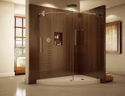 Curved Shower Doors High End Curved Sliding Shower Door System With Matching Acrylic