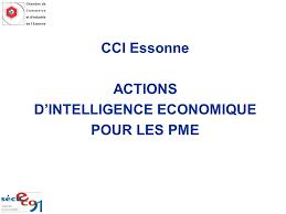 chambre de commerce de l essonne cci essonne actions d intelligence economique pour les pme ppt