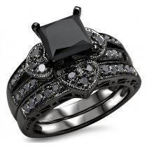 black diamond wedding set buy black diamond engagement rings online shop now and save
