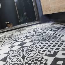 frise leroy merlin carrelage intérieur gatsby artens en grès noir et blanc 20 x 20
