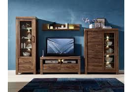 Wohnzimmerschrank T En Wohnwand Akazie Dunkel Mit Beleuchtung Woody 22 00838 Woody Möbel