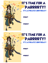 Avery Invitation Cards Create A Pirate Birthday Party Pirate101