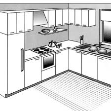 idee cuisine en l plans de cuisines ouvertes plan cuisine semi ouverte salon