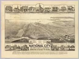 San Diego City Map by National City San Diego Co David Rumsey Historical Map Collection