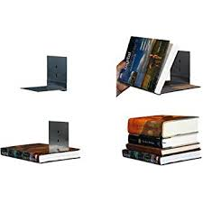 How To Make Invisible Bookshelf Amazon Com Floating Bookshelves Concealed Invisible Stainless