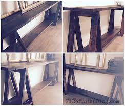 ana white diy sawhorse console table diy projects