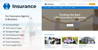 insurance insurance agency u0026 business psd template by authemes