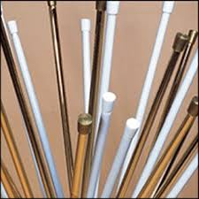 Curtain Suspension Rod Chrome Colour Tension Net Voile Curtain Suspension Rods Poles