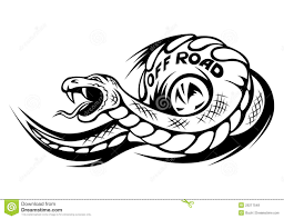 offroad snake tattoo stock vector image of deadly mascot 25217548