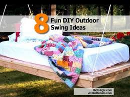 8 fun diy outdoor swing ideas
