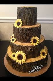 wedding cake tree tree stump fall cake cakes fall cakes tree stump