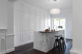 Contemporary Wainscoting Panels Contemporary Kitchen Hidden Behind Elegant Wall Panels