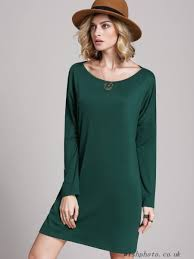 ljdtaj dark green house long sleeve shift dress casual dresses