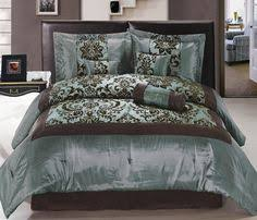 Comforter Bed In A Bag Sets Turquoise And Brown Bedding New 11 Piece Queen Bedding Aqua Blue
