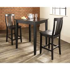 monti pub table and 2 chairs black value city furniture
