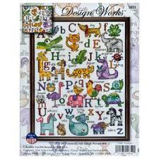 abc animals counted cross stitch kit hobby lobby 1100973