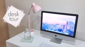 minimalist desk tour youtube