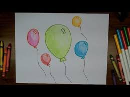 how to draw balloons very easy beginner drawing lesson for kids