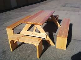 Wooden Picnic Tables With Separate Benches 161 Best Picnic Plus Custom Outdoor Furniture Images On Pinterest