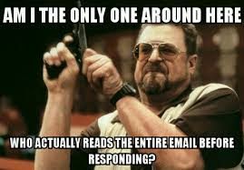 Email Meme - biggest work pet peeve when someone replys to my email with a