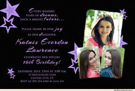 purple star birthday invitation daughter u0027s sweet 16 starry