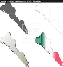 Map Of Sinaloa Mexico by Sinaloa Blank Outline Map Set Vector Yayimages Com