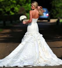 wedding dress daily clancy marries crouch in giles deacon wedding dress