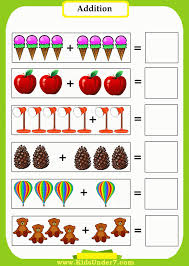 preschool and kindergarten addition worksheets for pdf first