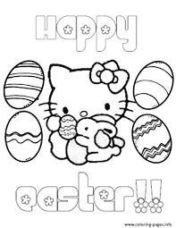 kitty eggs bunny easter coloring pages printable