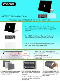 Plastic Desk Cover Protector Amazon Com Mosiso Plastic Hard Case With Keyboard Cover With