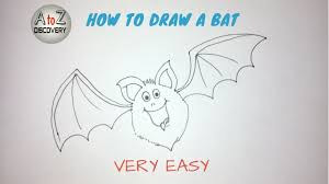 Bat For Halloween How To Draw A Scary Cartoon Bat For Halloween For Kids Youtube