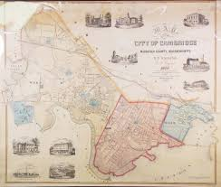 Map Of Massachusetts Cities Towns by Wonderful Wall Map Of Cambridge Mass Rare U0026 Antique Maps