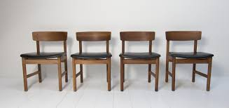 dining chairs by børge mogensen for fredericia furniture 1960s