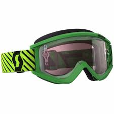 motocross goggles scott recoil xi chrome goggle green yellow motocross goggles