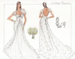 bridal gown sketch etsy