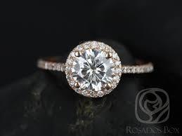 circle engagement ring rosados box kubian 7mm 14kt gold f1 moissanite and