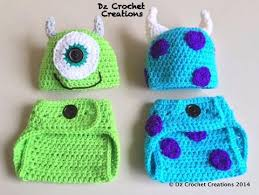 Crochet Baby Halloween Costumes Crochet Mike Sulley Inspired Monster Handmadebydz
