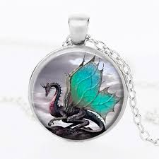 dragon glass necklace images Blue dragon glass dome necklace welcome to mycrazyuncle jpg