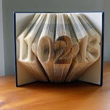 folded book art paper anniversary gift for him or her