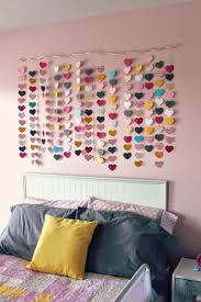 best 25 kids wall decor ideas on pinterest hallway wall decor all things diy room reveal girl s bedroom on a budget waterfall of hearts