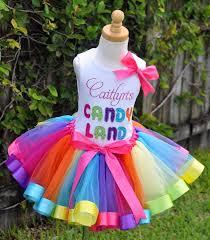 ribbon tutu candyland rainbow ribbons elegance tutu set crafts