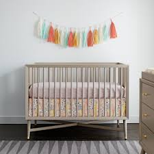 dwell studio mid century 3 in 1 crib french grey tjskids com