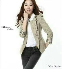 blazer wanita muslimah modern blazer wanita casual model baju kerja terbaru