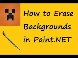 how to erase backgrounds in paint net youtube
