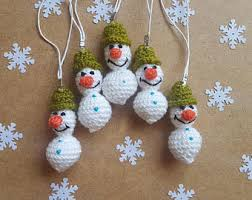 crochet santa claus christmas ornaments party favors key fob