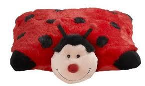 light up ladybug pillow pet amazon com my pillow pets miss lady bug 18 toys games
